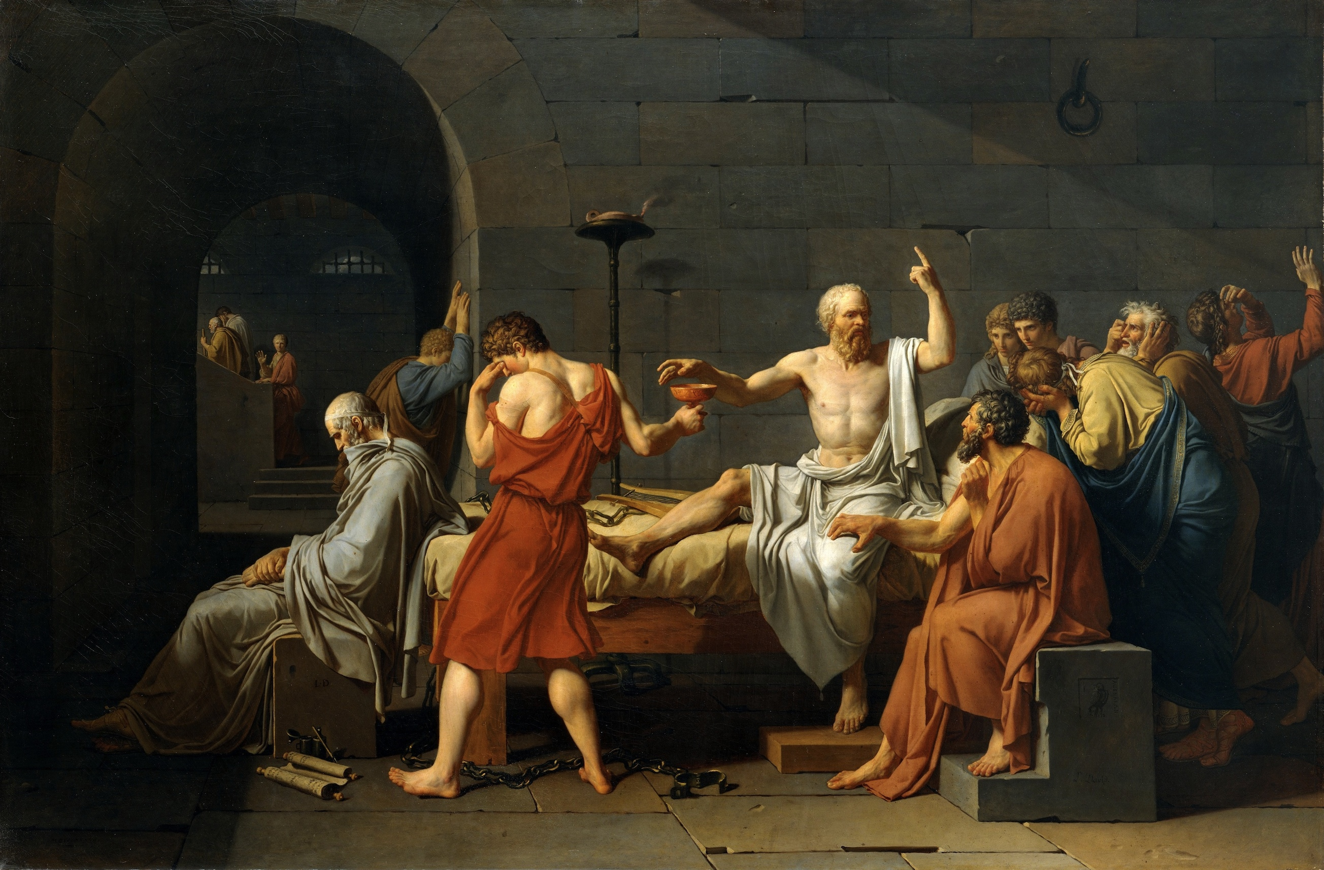 Jacques-Louis David's The Death of Socrates - Small