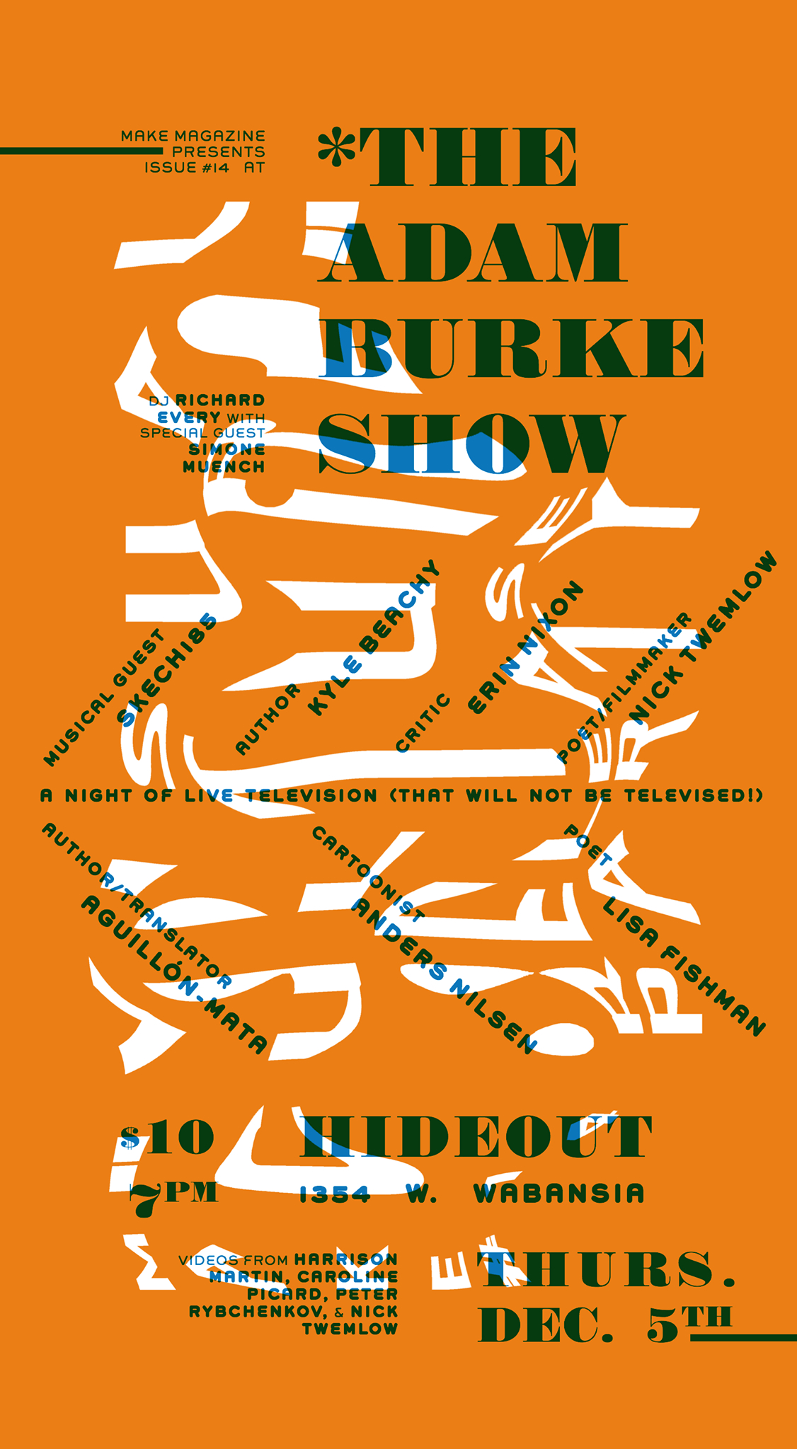 MAKE Magazine - Issue 14 Release Party Poster